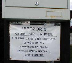 Objekt střežen psem | Vtipné obrázky - obrázky.vysmátej.cz