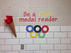 Olympics library display. I just got a little more crafty :)