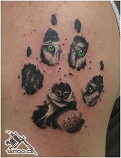like this idea for a different type of wolf tattoo