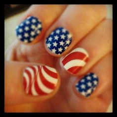 Get Patriotic With Red White & Blue Nail Art Designs.