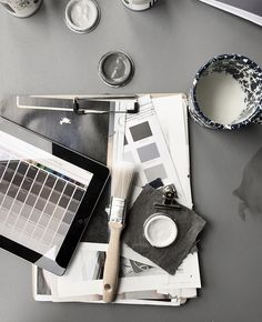 Black & Greays color palette. Dulux Visualizer | via Ollie & Sebs Haus