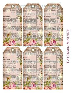 Tattered Vintage PDF Tags