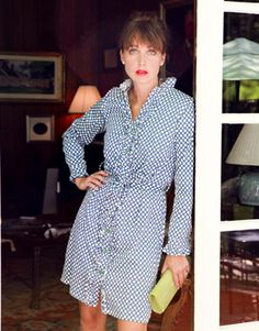 KC new l/s ruffle shirt dress