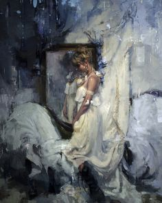 """""""Jasmine"""" by Jeremy Mann. This is a beautiful painting! Figure Painting, Painting & Drawing, Classical Realism, Art Graphique, Salvador Dali, Gustav Klimt, Renoir, American Artists, Beautiful Paintings"""