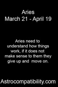 Aries need to.... | AstroCompatibility.com