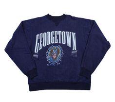 Vintage 1990s 90s Georgetown Crewneck by VintageMensGoods on Etsy