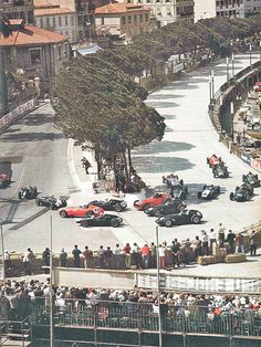 Start of the 1959 Monaco Grand Prix