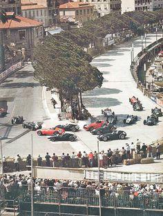 Start of the 1959 Monaco Grand Prix