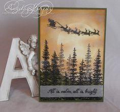 Angela Lorenz:  Stampin' Up! Wonderland and Cozy Christmas stamp sets