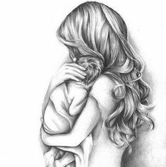 baby drawing Mother and Child Drawing Tattoo For Son, Tattoos For Kids, Tattoos For Daughters, Daughter Tattoos, Logan Tattoo, Baby Drawing, Drawing For Kids, Art For Kids, Drawing Drawing