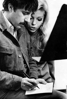 """tinasinatra: """"Nancy Sinatra and Lee Hazlewood in the studio c. Vintage Love, Vintage Ads, Lee Hazlewood, Laughing Face, Nancy Sinatra, Studio C, Kind Person, Just Friends, My Favorite Music"""