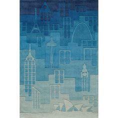 Shop for Momeni 'Lil Mo Hipster Jetsetter Blue Rug (8' x 10'). Get free shipping at Overstock.com - Your Online Home Decor Outlet Store! Get 5% in rewards with Club O!