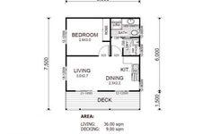 granny flat studio floorplan