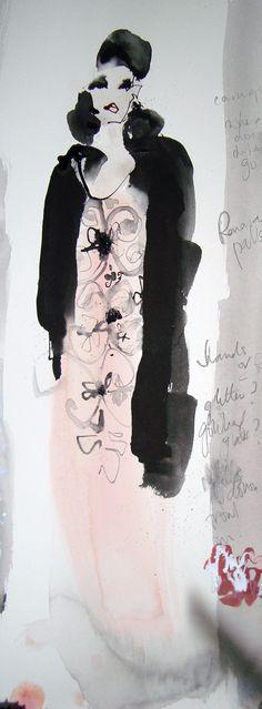 Sketch Peach Dress by Bridget Davies