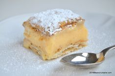 Cremsnit reteta clasica de cremes | Savori Urbane Romanian Food, Romanian Recipes, Apple Pie, Caramel, Sweet Tooth, Recipies, Cheesecake, Deserts, Food And Drink