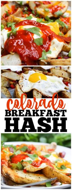 COLORADO BREAKFAST HASH flavorful, vibrant and easy, this super simple meal won't be made just for breakfast but for lunch and dinner as well. #breakfastcasserole #breakfast #breakfastrecipes #hashbrown #eggs