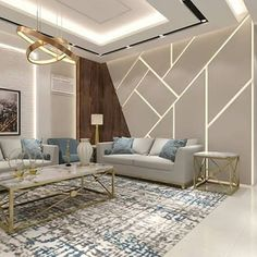 Interior Living Room Design Trends for 2019 - Interior Design House Ceiling Design, Ceiling Design Living Room, Living Room Tv, Interior Design Living Room, Living Room Designs, Bedroom Bed Design, Home Room Design, Drawing Room Interior, Sofa Design