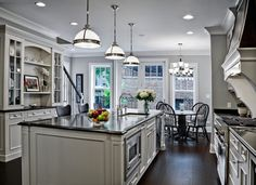 What is the paint color? Beautifully done kitchen! - Houzz Thanks so much, I am glad you like the design! The grey paint used on the walls is Benjamin Moore Smoke Embers AC-28