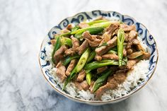 pork-stir-fry-with-green-onions  INGREDIENTS 1+pound+pork+loin+or+boneless+pork+chops 2+Tbsp+soy+sauce 1+teaspoon+sugar 1+teaspoon+corn+starch 4+Tbsp+peanut+oil+or+other+high+smoke+point+oil+(canola,+rice+bran,+or+grape+seed) 5+cloves+garlic,+thinly+sliced 8-12+scallions/green+onions,+sliced+diagonally+into+1+to+2-inch+pieces,+green+and+wh