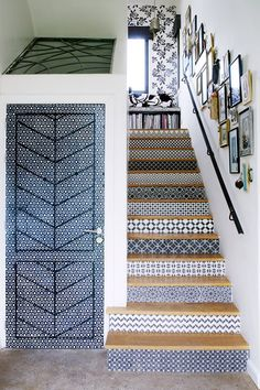 Tiled Staircase - Staircase Design (houseandgarden.co.uk)