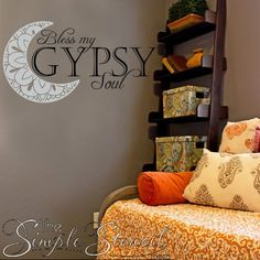 Bless My Gypsy Soul Wall Decal - TheSimpleStencil.com #walldecal #wallstickers #wallart #wallstencils #wallquotes #blessmysoul #blessmygypsysoul #gypsy #gypsysoul #gypsystyle #gypsyfashion #gypsylife #moon #moonart #moondecal #moonsticker #moongoddess #moongoddessqifts #wallart #windowdecals #walldecals #posterart #kidsroom #girlsroom #teengirlbedroomideas #teengirlbedrooms #moonchild #gypsygirl #girlsroomdecor #girlsroomideas #girlsroomstickers #wallstickers #wallart #wallquotes…