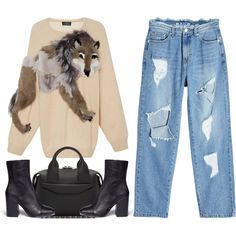 Alexa by thestyleartisan on Polyvore featuring Alena Akhmadullina, SJYP, Ash and Alexander Wang