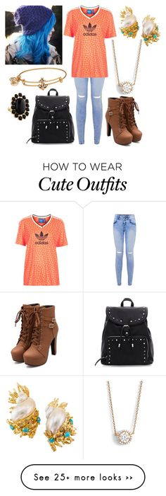 """""""School"""" by liccysilva on Polyvore featuring Topshop, Lafonn, Alex and Ani and Kate Spade"""