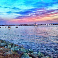 Sunset on Shelter Island, San Diego
