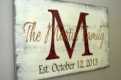 Personalized Name Sign Custom Name Sign Family by RusticlyInspired, $60.00