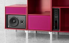 Red and Pink for your music and loudspeakers - love it !!