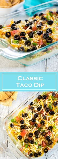 Classic Taco Dip Recipe via @foxvalleyfoodie