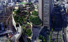 The 8 Level Rooftop Park in Osaka, Japan #architecture