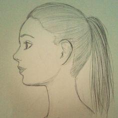 Visage d'une femme de profil