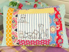 Kittens Embroidery by Bustle & Sew, via Flickr