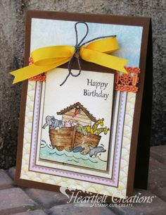 Heartfelt Creations | Happy Birthday Noahs Ark