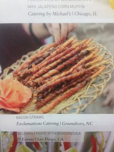 Bacon Straws- from Catersource  magazine May/June 2013
