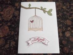 Sconebeker Stempelscheune - Stampin up Sets : Geburtstagskarte, Gut gewappnet, Vogelhochzeit,
