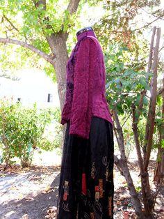 Bohemian Black Velvet Patchwork Skirt/ Gypsy Boho by KheGreen