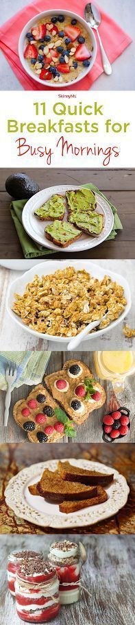 Try these 11 Quick Breakfasts for Busy Mornings! #breakfast #quick #easy