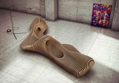 Parametric Bench - Interior Design by Oleg Soroko