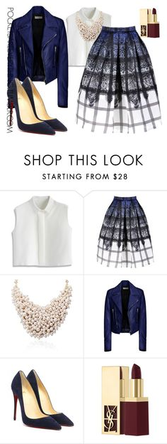 """""""Holiday Chic(Part 3)"""" by adoremycurves ❤ liked on Polyvore featuring Chicwish, Balenciaga and Yves Saint Laurent"""