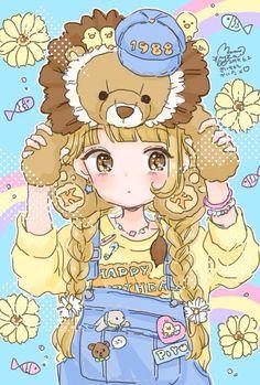 ) art by ManaMoko Art Kawaii, Loli Kawaii, Kawaii Chibi, Kawaii Anime Girl, Lolis Anime, Anime Art, Kawaii Drawings, Cute Drawings, Kawaii Illustration