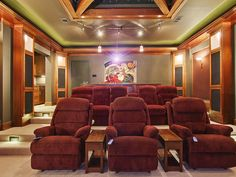 100 Awesome Home Theater and Media Room Ideas for 2018 | Pinterest on interior design, home bowling design, bedroom design, wine cellar design, home system design, theatre floor plan design, home theaters mansions, home cinema design, theatre classroom design, swimming pool design, decks design, kitchen design, home cafe design, speakers design, bar design, home entertainment, movies design, home theatre room, home theatre interiors, home furniture,