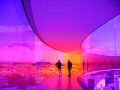 ARoS 'Your Rainbow Panorama' by Olafur Eliason in Aarhus, Denmark