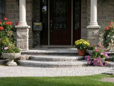 stone porch steps - Google Search