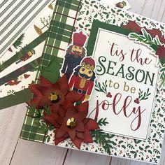 Christmas Mini Albums, Christmas Minis, Christmas Books, Christmas Sentiments, Card Sentiments, Poinsettia Flower, Christmas Poinsettia, Mini Album Tutorial, Echo Park Paper