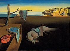 """Persistence of Memory"" by surrealist painter Salvador Dali. •••••  The soft watches are an unconscious symbol of the relativity of space and time.  Dali was incorporating an understanding of the world introduced by Albert Einstein's Special Theory of Relativity."