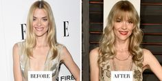 JAIME KING one of the BEST CELEBRITY HAIR CHANGES OF 2015. The actress's new bangs and toffee blonde color soften her features and warm up her skin.