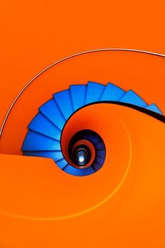 Amazing coloured staircase, such bright bold colours!!