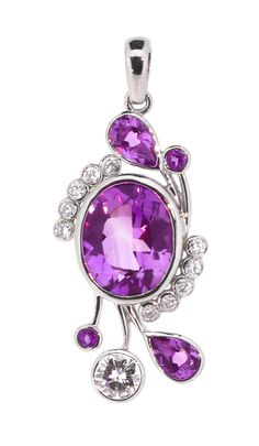 Beautiful amethyst and diamonds set in palladium, this pendant is suitable for both evening and daytime.  #timothyroe #bespoke #design #jewellery